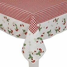 SG15 --- Tischdecke ---- Serie Strawberry Garden --- Clayre & Eef ---- 150 x ...
