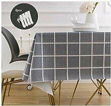 SGMY PVC-Tischdecke mit Tischdecken-Clips,