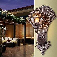 SGWH ® Außenleuchte Pfau Wandleuchten LED Balkon