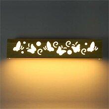 SGWH ® LED Wandleuchte aus massivem Holz Nordic