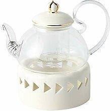 SGXDM Blume Tee Tee-Set Beheizte Obst Teekanne