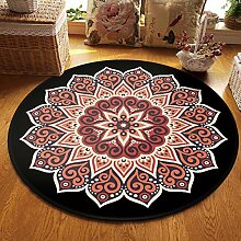 SGZBY Teppich Vintage Mandala Runde Teppich