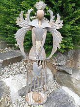 Shabby Chic Engel mit Herz, antik-silber