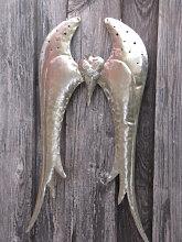 Shabby Chic Engelsflügel zum Hängen silber
