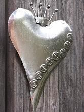 Shabby Chic Herz zum Hängen silber