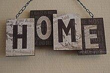 Shabby Chic HOME 3D Schild schwarz & creme Dekoration Geburtstag Geschenk sg1449