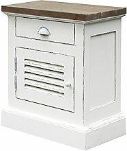Shabby Chic, Nachttisch, Holz, Vintage Weiß
