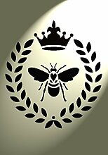 Shabby Chic Schablone Bumble Bee Herz Kranz Rustikal Mylar Vintage A4297x 210mm Möbel Art Wand