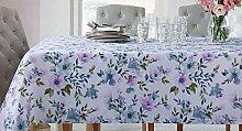 Shabby Chic Stoff-Tischdecke mit Blumenmuster,