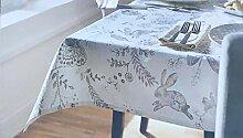 Shabby Chic Stoff-Tischdecke mit Blumenmuster in