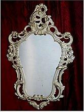 Shabby Chic Weiß-Gold Dulacolor Wandspiegel Spiegel Barock Antik 50X76 Wanddeko