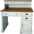 Shabby Schreibtisch mit Aufsatz Weiß