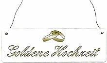 Shabby Vintage Holzschild Türschild GOLDENE