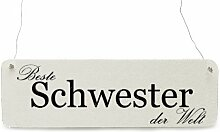 Shabby Vintage Schild Türschild BESTE SCHWESTER