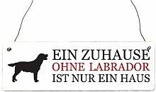 Shabby Vintage Schild Türschild EIN ZUHAUSE OHNE LABRADOODLE Geschenkidee