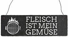 Shabby Vintage Schild Türschild FLEISCH IST MEIN
