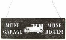 Shabby Vintage Schild Türschild MEINE GARAGE Deko Holzschild Auto Werksta