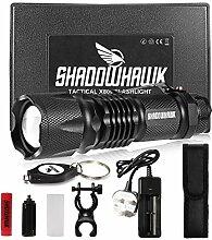 Shadowhawk® Taschenlampe, wiederaufladbar,