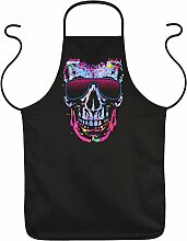 Shady Character Kochschürze mit Neon Motiv: - Geschenkidee Schürze Küchenschürze Partyschürze Schürze Mitbringsel