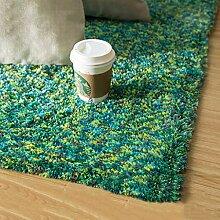 Shaggy Area Rug, hochfaltiger, einfarbiger Teppich