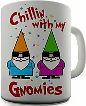 Shaggy Hochflor Teppich Funny Design Bürostuhl Chillen neue Geschenkidee Kaffeetasse Tasse aus Keramik für Tee