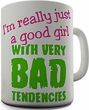 Shaggy Hochflor Teppich Funny Design Good Girl Kaffeebecher Teetassen MUG Geschenk fürs Büro