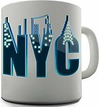 Shaggy Hochflor Teppich Funny Design NYC Tee Tasse Mug Becher Coffee Neuhei