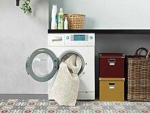Shaggy Hochflor Teppich Läufer Happy Wash Weiß nach Maß / waschbar, trocknergeeignet und pflegeleicht / schadstoffgeprüft, strapazierfähig, schmutzabweisend / für Wohnzimmer, Schlafzimmer, Küche uvm, Größe Auswählen:67 x 850 cm