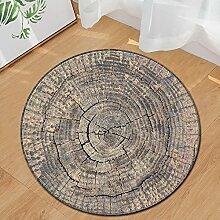 Shaggy Teppich fürs Wohnzimmer 150cm Rund