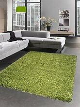Shaggy Teppich Hochflor Langflor Bettvorleger Wohnzimmer Teppich Läufer uni grün Größe 80x150 cm