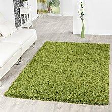 Shaggy Teppich Hochflor Langflor Teppiche Wohnzimmer Preishammer versch. Farben, Farbe:gruen;Größe:200x280 cm