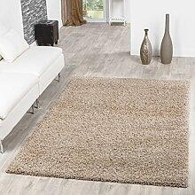 Shaggy Teppich Hochflor Langflor Teppiche Wohnzimmer Preishammer versch. Farben, Größe:70x250 cm, Farbe:beige