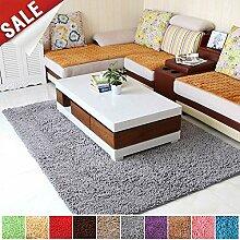 Shaggy Teppich Küchenläufer 90x180cm Grau Sofa