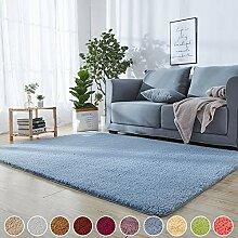 Shaggy Teppich Küchenläufer Blau 180 x 320 cm