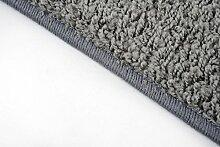 Shaggy Teppich Läufer Pulpo Grau nach Maß - versandkostenfrei schadstoffgeprüft pflegeleicht antistatisch schmutzresistent robust strapazierfähig Flur Diele Eingang Küche Wohnzimmer, Größe Auswählen:67 x 450 cm