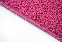 Shaggy Teppich Läufer Pulpo Pink nach Maß - versandkostenfrei schadstoffgeprüft pflegeleicht antistatisch schmutzresistent robust strapazierfähig Flur Diele Eingang Küche Wohnzimmer, Größe Auswählen:80 x 600 cm