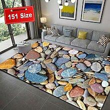 Shaggy Teppich Wohnzimmer 3D Steinmuster Teppiche