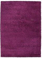 Shaggyteppich Hochflorteppich Zottelteppich Teppich DELIGHT COSY 42 | 80x150 cm | Beere
