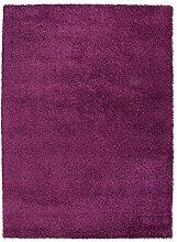 Shaggyteppich Hochflorteppich Zottelteppich Teppich DELIGHT COSY 41 | 120x170 cm | Beere