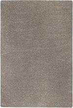Shaggyteppich Langflor Wohnbereich weich Uni 133 x 190 cm taupe. Weitere Farben und Größen verfügbar