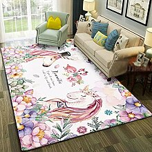 SHAGY Kinderteppich Wohnzimmer Bodenschutz