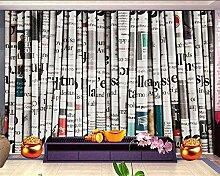 ShAH 3D-Tapete Retro Zeitung Hintergrund