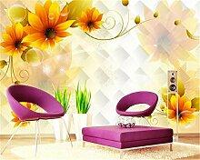ShAH 3D Wallpaper Großes Florales Wandbild Haus
