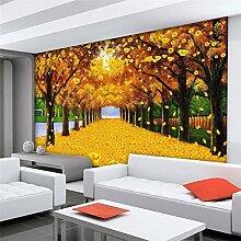 ShAH Custom 3D Wallpaper Ahorn Gold Etage