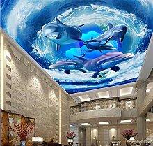 ShAH Decken Sie Delphin Tapete des Bodenbelags 3D
