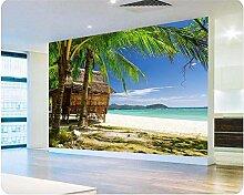 ShAH Fototapete Palm Beach Meerblick Wohnzimmer Im