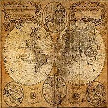 ShAH Große Benutzerdefinierte Tapete Retro Karte