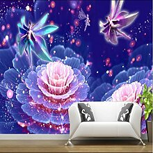 ShAH Mode 3D Wallpaper Foto Lila Blumen 3D