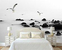 ShAH Schwarz Und Weiß Reef Sea Gull Sea 3D