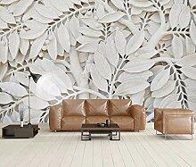 ShAH Tapete 3D für Wände weiße Blätter